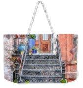 Brick Townhouse Walkup Watercolor Weekender Tote Bag