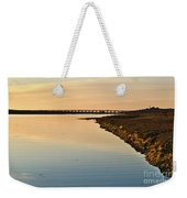 Bridge And Ria At Sunset In Quinta Do Lago Weekender Tote Bag