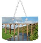 bridge over river Tweed near Melrose towards Gattonside Weekender Tote Bag