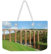 bridge over river Tweed near Melrose Weekender Tote Bag