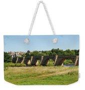 bridge over river Tyne at Corbridge in summer Weekender Tote Bag