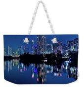 Bright Blue Hour In Austin Weekender Tote Bag