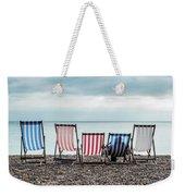 Brighton Beach Chairs Weekender Tote Bag