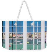 Brilliant Bermuda Cityscape Windows Weekender Tote Bag