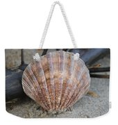Brown Cockle Shell And Driftwood 2 Weekender Tote Bag