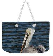 Brown Pelican Weekender Tote Bag by Jemmy Archer