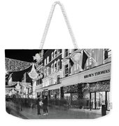 Brown Thomas On Grafton Street At Night - Dublin Weekender Tote Bag by Barry O Carroll