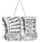 Brownstone Detail, Court House, Helena, Montana. Weekender Tote Bag