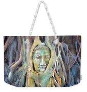 Buddha Head In Tree Roots Weekender Tote Bag