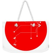 Buenos Aires Red Subway Map Weekender Tote Bag