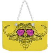 Buffalo In Pink Glasses Weekender Tote Bag