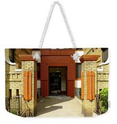 Building Entrance In Brooklyn, New York Weekender Tote Bag