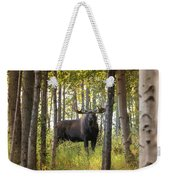 Bull Moose In Fall Forest Weekender Tote Bag