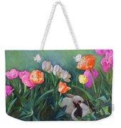 Bunnies In The Blooms Weekender Tote Bag