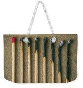 Burnt Matches Weekender Tote Bag