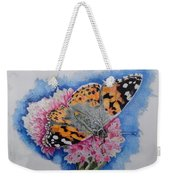 Butterfly At Lunch Weekender Tote Bag