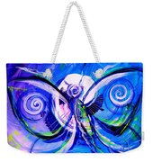 Butterfly Blue Violet Weekender Tote Bag