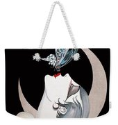 Butterfly Kiss French Art Deco Flapper Woman Weekender Tote Bag