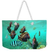 Butterflyfish And Sergeant Major Weekender Tote Bag