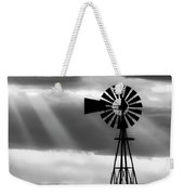 Bw Windmill And Crepuscular Rays -01 Weekender Tote Bag by Rob Graham