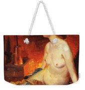 By The Fireside 1910 Weekender Tote Bag