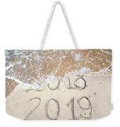 Bye Bye 2018 Welcome2019 Weekender Tote Bag
