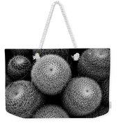 Cactus Black And White 5 Weekender Tote Bag
