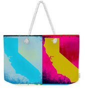 California Pop Art Panels Weekender Tote Bag