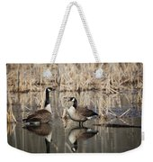 Canada Geese On The Marsh Weekender Tote Bag by Jemmy Archer