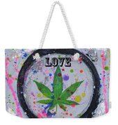 Cannabis With Love Weekender Tote Bag