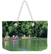 Canoeing On The Rideau Canal In Newboro Channel Ontario Canada Weekender Tote Bag