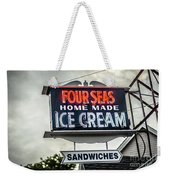 Cape Cod Four Seas Home Made Ice Cream Neon Sign Weekender Tote Bag