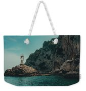 Capri Lighthouse Weekender Tote Bag