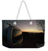 Car Sunset Weekender Tote Bag