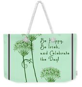 Card For St. Patrick's Day Weekender Tote Bag