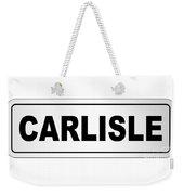 Carlisle City Nameplate Weekender Tote Bag