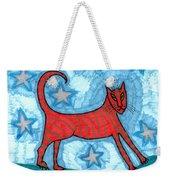 Cat By Starlight Weekender Tote Bag