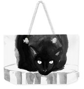 Cat On Wood Weekender Tote Bag