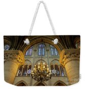 Cathedral Notre Dame Chandelier Weekender Tote Bag by Brian Jannsen