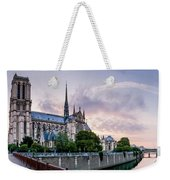 Cathedral Of Notre Dame From The Bridge - Paris France Weekender Tote Bag