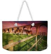 Cefn Viaduct Horses At Sunset Weekender Tote Bag