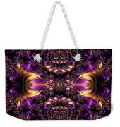 Chained Dragons Condemned  To Battle In Hells Fiery Furnace Fractal Abstract Weekender Tote Bag by Rose Santuci-Sofranko
