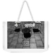 Chairs And Shadows Bw Poster Weekender Tote Bag
