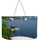 Chambly Basin And The Church Of St Joseph In Quebec Weekender Tote Bag