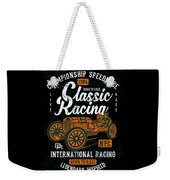 Championship Speed Race Classic Racing Weekender Tote Bag