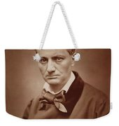 Charles Baudelaire, French Poet, Portrait Photograph  Weekender Tote Bag