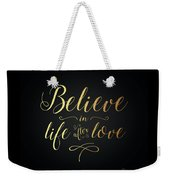 Cher - Believe Gold Foil Weekender Tote Bag
