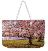Cherry Blossom Trees Weekender Tote Bag by Rima Biswas
