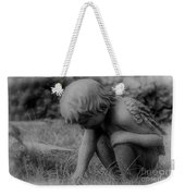 Cherub In The Grass Weekender Tote Bag
