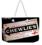 Chewlie's Gum Clerks Weekender Tote Bag